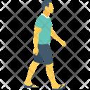 Pedestrian Walking Runner Icon