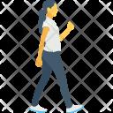 Pedestrian Female Walking Icon