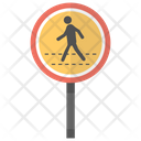 Pedestrian Crossing Traffic Icon