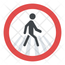 Pedestrian Crossing Sign Icon