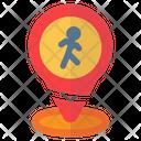 Pin Location Pedestrian Icon