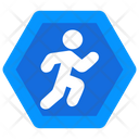 Pedestrian Sign Roadwalk Sign Sidewalk Icon