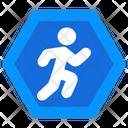 Pedestrian Sign Icon
