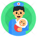 Pediatric Nursing Nurse With Newborn Nurse Holding Baby Icon
