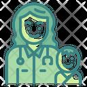 Pediatrician Baby Profession Icon