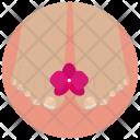 Pedicure Flower Beauty Icon