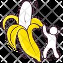 Peeled Banana Icon