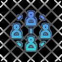 Peer To Peer Peer Network Icon