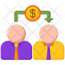 Peer To Peer Lending P 2 P Lending Giving Money Icon