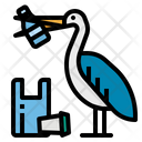 Pelican Contamination Garbage Icon