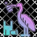 Pelican Contamination Garbage Icon