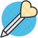 Pen Heart Sign Icon