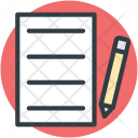 Pen Writing Content Icon