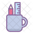 Pen Cup Pencil Icon