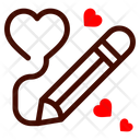 Pen Draw Heart Drawing Icon