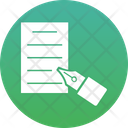 Pen Writing Content Writing Icon