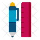 Pen And Ruler Ruler Pen Icon