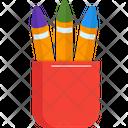 Pen Cup Pencil Case Pencil Holder Icon