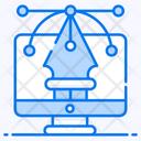 Pen Tool Graphic Designing Digital Artwork Icon