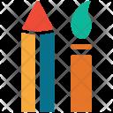 Pencil Brush Color Icon