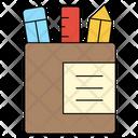 Pencil Box Scale Icon