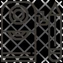 Pencil Design Stationery Icon