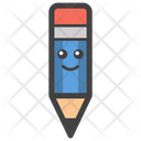 Pencil Smiley Face Writing Tool Pencil Icon