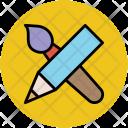 Pencil Paintbrush Drawing Icon