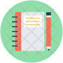Pencil Notebook Writing Icon