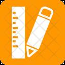 Pencil Ruler Scale Icon