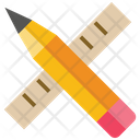 Pencil And Ruler Pencil Pen Icon