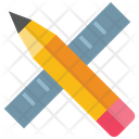 Pencil And Ruler Pencil Stationery Icon