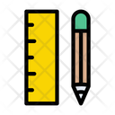 Pencil Ruler Education Icon