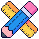 Pencil Ruler Rulers Icon