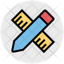 Pencil Office Ruler Icon
