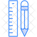 Pencil And Ruler Design Drawing Icon