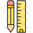 Pencil And Ruler Design Tools Design Icon