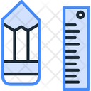 Pencil And Scale Pencile Scale Icon