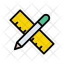 Pencil And Scale Icon