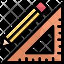 Pencil And Set Square Icon