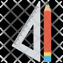 Pencil Ruler Architectural Icon