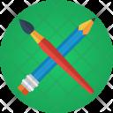 Pencil Brush Sketch Icon