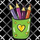 Pencil Case Pencil Holder Pencil Container Icon