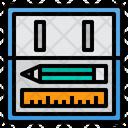 Pencil Case School Office Icon