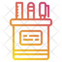 Pencil Case School Study Icon