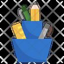 Pencil Case Stationary Jar Pencil Jar Icon