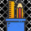 Pencil Case Edit Tools School Material Icon