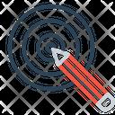 Pencil Dart Board Icon