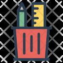 Holder Pencil Jar Icon