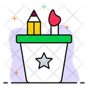 Pencil jar Icon